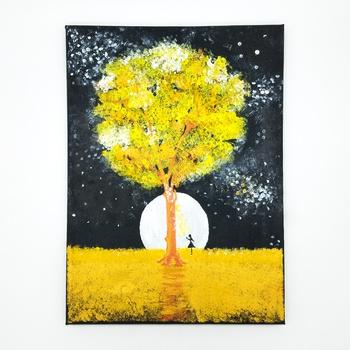 "Tableau peinture acrylique thème ""Fille Rêveuse"" fait main par Sart Craft لوحة بفن طلاء أكريليك صناعة حرفية يدوية's image"