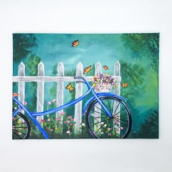 "Tableau peinture acrylique thème ""Printemps"" fait main par Sart Craft لوحة بفن  طلاء أكريليك صناعة حرفية يدوية's image"