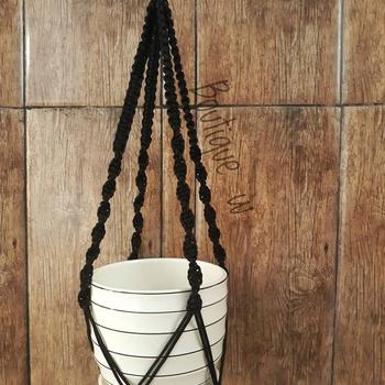 Suspension de plante couleur noire fait main par Boutique W تعليقة النباتات لون اسود صناعة حرفية يدوية's image