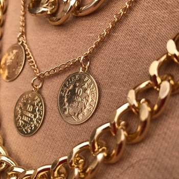 """Triple collier inoxydable """"Mademoiselle""""'s image"""