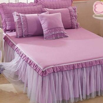 Couvre-lit 2 places haute game composé de 2 grands oreilles tissu matelassé et 2 moyens Oreille et une petite cossin couleur rose's image