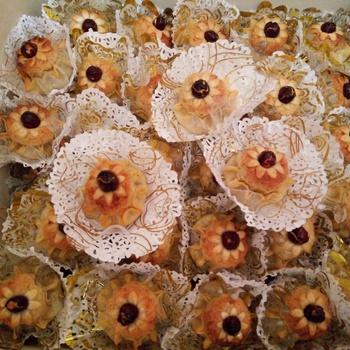 Gâteau dzeriette traditionnel algérien moderne aux amandes fait main par Chahinez gâteau's image