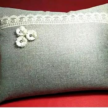 """Coussin gris fait main par Collection"""" Djoud coussin""""de décoration pour salon's image"""