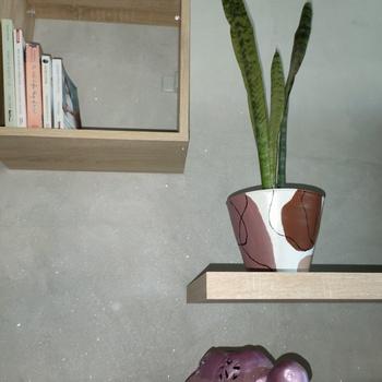 Sansevieria plante naturelle détoxifiante et décorative avec son pot en terre cuite handmade،نبتة السنسفيرا في اصيص مرسوم يدويا's image