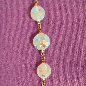 collier avec bracelet en faux opale's image