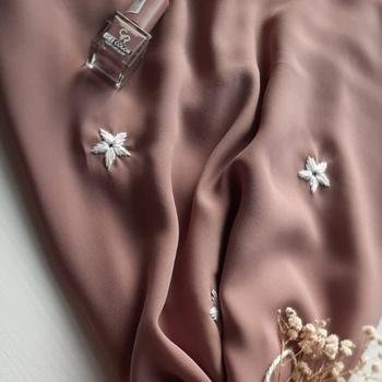 👑خمار مميز لكل اميرة_foulard crepe Couleur marron's image