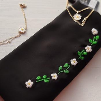 خمار مميز foulard crepe 👑 couleur noire's image