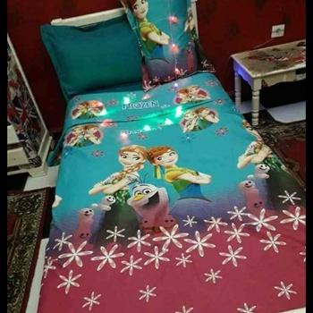 Parure  de draps pour enfant 1 place et demie contient Draps housse, Draps plat, taie d'oreillers's image