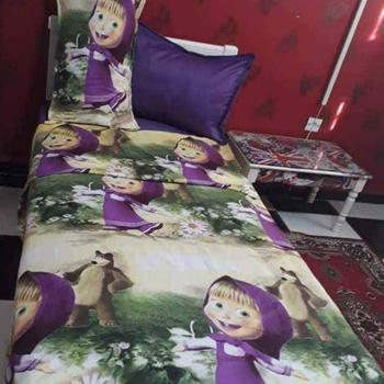 Parure de drap pour enfant une place et demie 3 pièces: drap housse, drap plat, taie d'oreillers's image