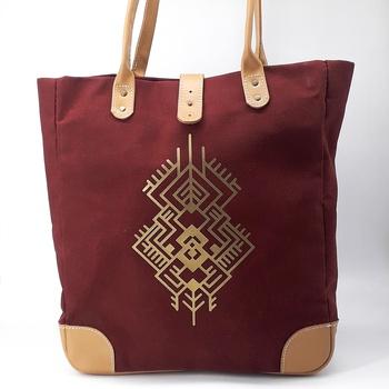Sac à main en cuir couleur bordeau  sac artisanal fait main par Bodo Création صناعة حرفية يدوية's image
