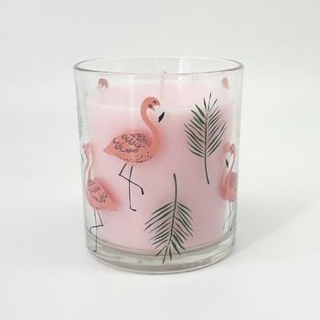 Bougie parfumée en verrine senteur rose,  bougie artisanale fait main par Belle bougie  شمعة معطرة برائحة الورد  صناعة حرفية يدوية's image