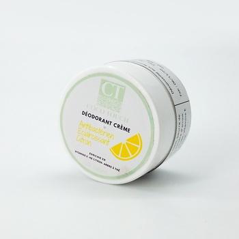 Déodorant crème artisanal naturel et bio parfumé au citron, fait main par Coco Touch, كريم مزيل للعرق بالليمون طبيعي صناعة حرفية يدوية's image