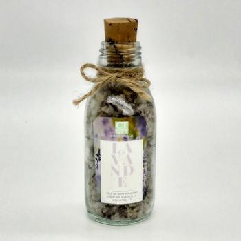 Sel de bain floral relaxant purifiant à base naturelle à la lavande séchée bio, fait main par Coco Touch, ملح الاستحمام الطبيعي للاسترخاء باللافندر صناعة حرفية يدوية's image