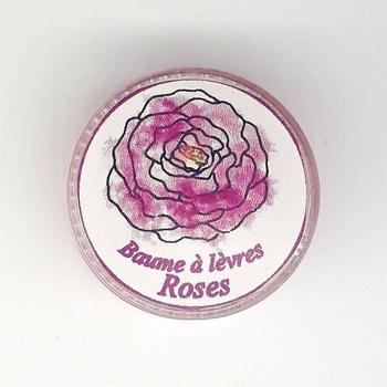 Baume à lèvres de rose, baume naturel artisanal apaisant nourrissant quotidien, fait main par Le Galet مرطب الشفاه الطبيعي صناعة حرفية يدوية's image