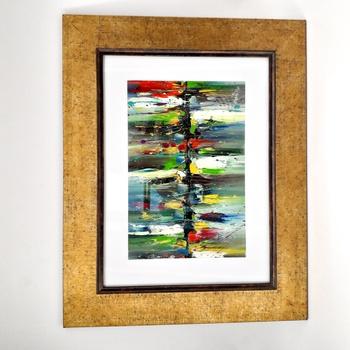 Peinture à l'huile en relief  - L'horizon- Artiste algérienne 44*36cm fait main par Janis Touch لوحة فنية بالالوان الزيتية  صناعة حرفية يدوية's image