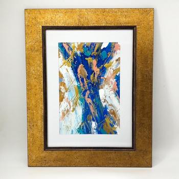 Peinture à l'huile en relief  - Mer Egée- Artiste algérienne 44*36 cm fait main par Janis Touch لوحة فنية بالالوان الزيتية  صناعة حرفية يدوية's image