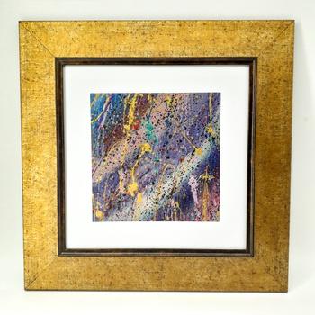 Peinture à l'huile en relief  - Feu d'Artifice- Artiste algérienne fait main par Janis Touch لوحة فنية بالالوان الزيتية  صناعة حرفية يدوية's image