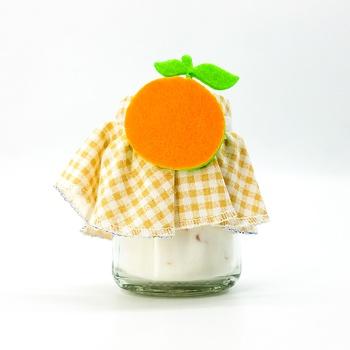 Bocal décoratif anti odeur frigo bocal apporteur de fraicheur et une bonne odeur senteur orange fait main par Les Senteurs de Lyne جرة زجاجية تمتص الروائح الموجودة في الثلاجة صناعة حرفية يدوية's image