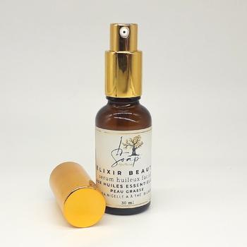 Elixir de beauté formulé à base des huiles essentielles et des huiles végétales pour la peau grasse (30ml) fait main par L Soap, صناعة حرفية يدوية's image