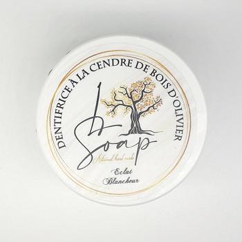 Dentifrice en poudre à la cendre de bois d'olivier 100% naturel et végan fait main par L Soap صناعة حرفية يدوية's image