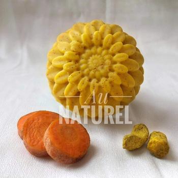 Savon naturel artisanal au carotte et curcuma  صابون الجزر والكركم's image
